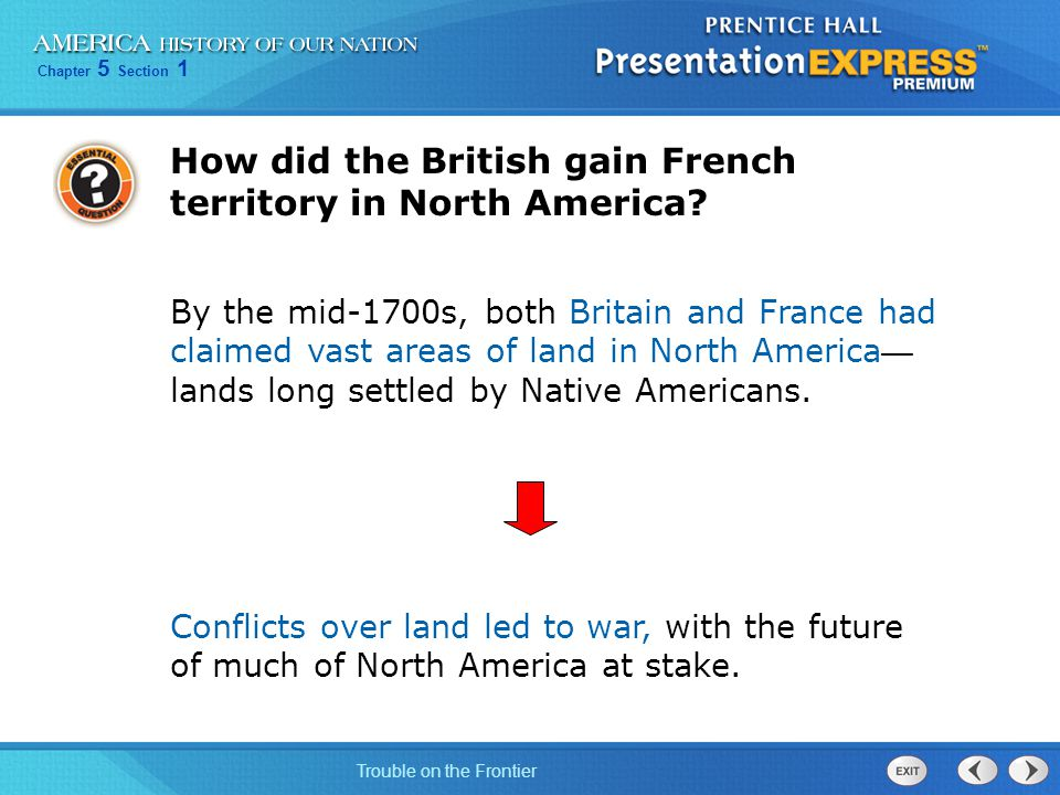 How did the British gain French territory in North America