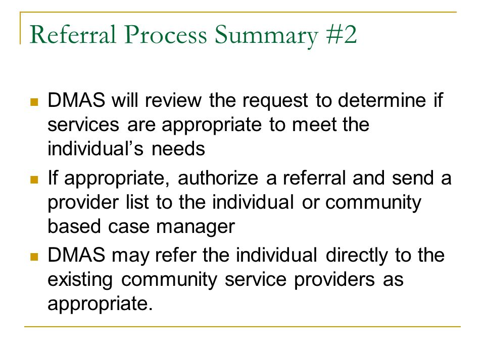 Referral Process Summary #2