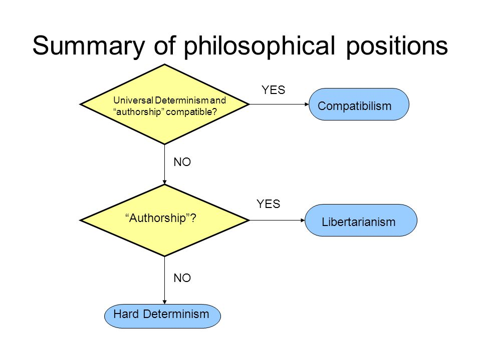 Summary of philosophical positions