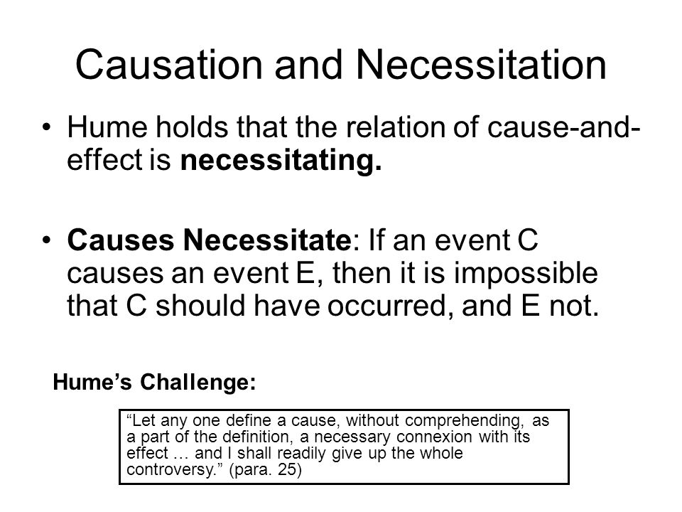 Causation and Necessitation