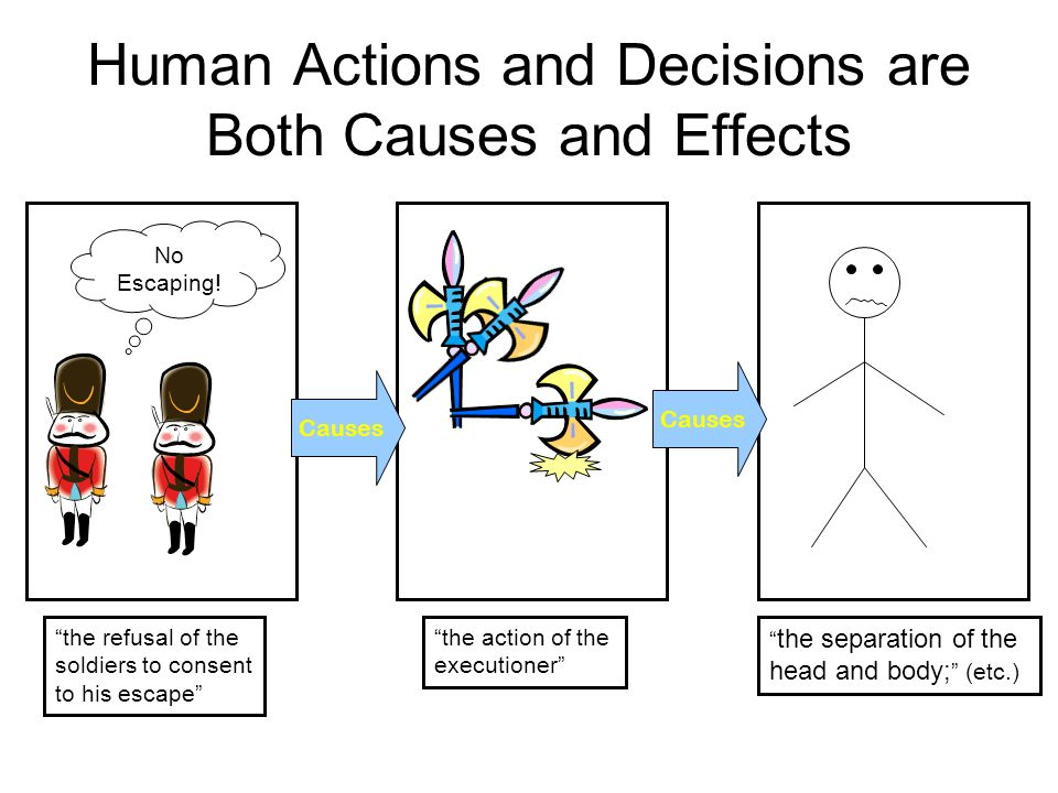 Human Actions and Decisions are Both Causes and Effects