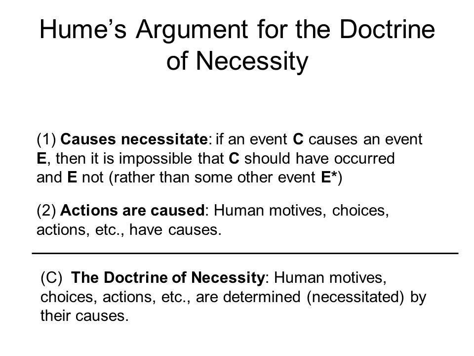 Hume's Argument for the Doctrine of Necessity