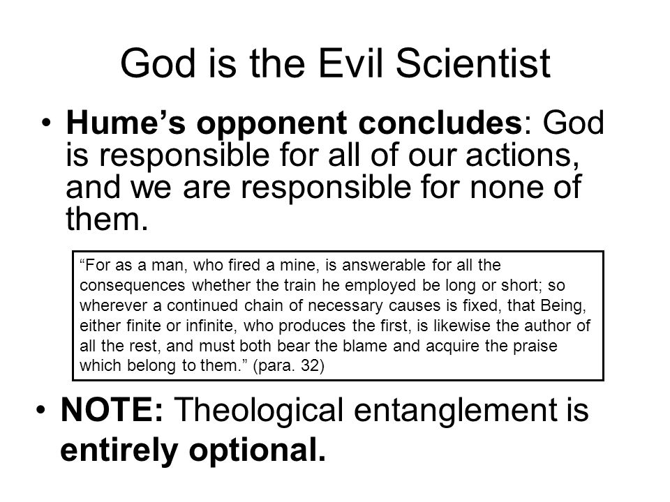 God is the Evil Scientist