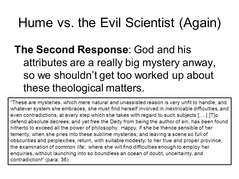 Hume vs. the Evil Scientist (Again)