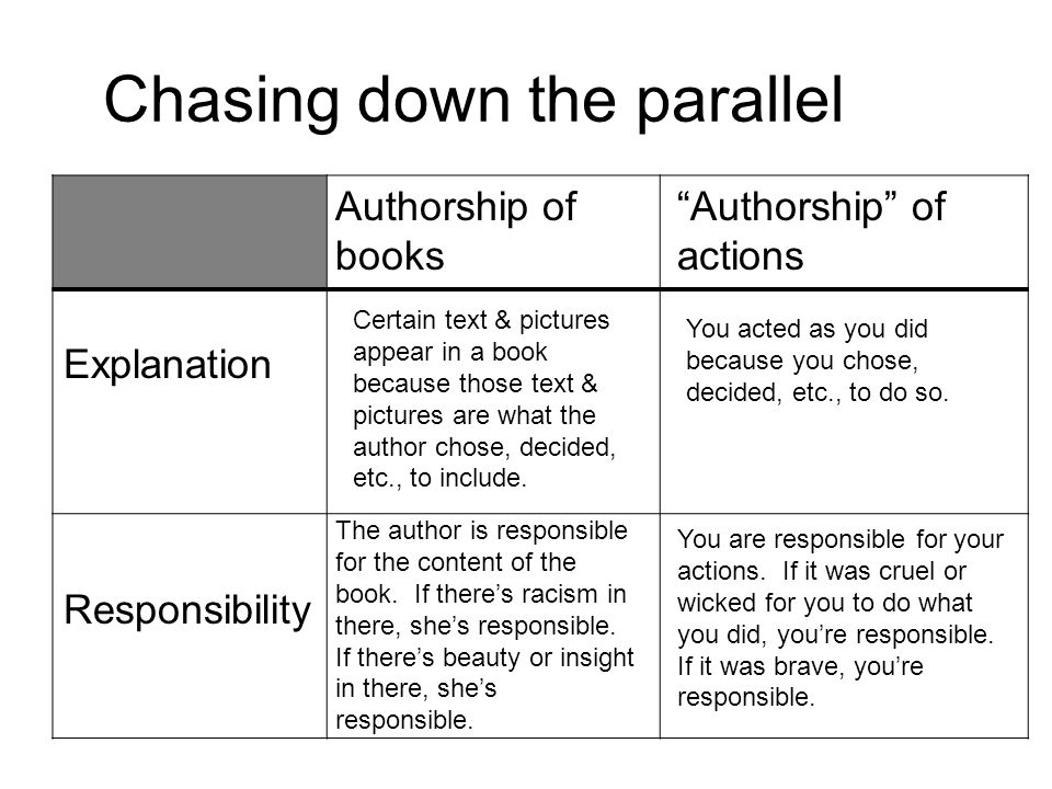 Chasing down the parallel