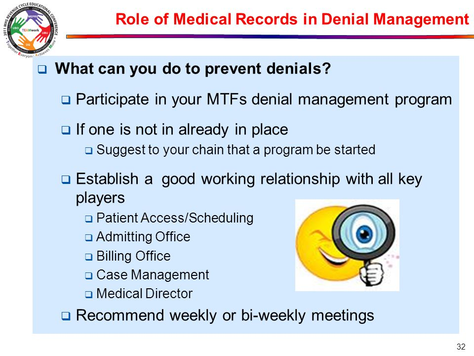 Role of Medical Records in Denial Management
