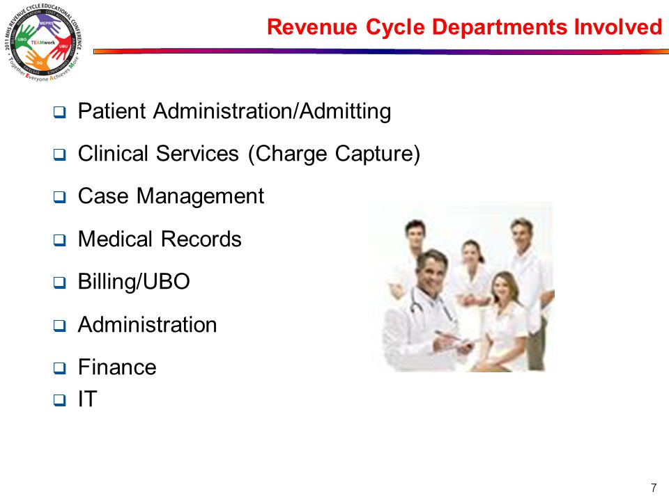 Revenue Cycle Departments Involved