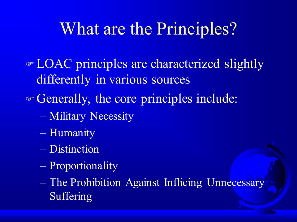 What are the Principles