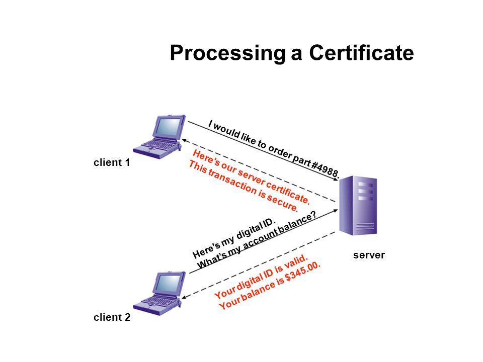 Processing a Certificate