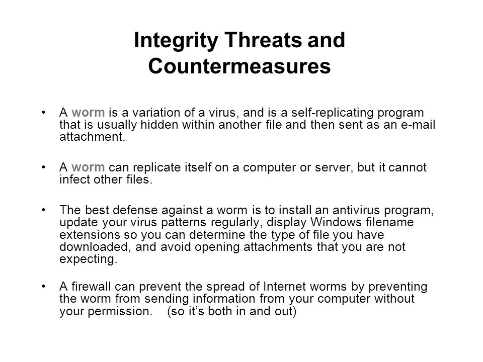 Integrity Threats and Countermeasures