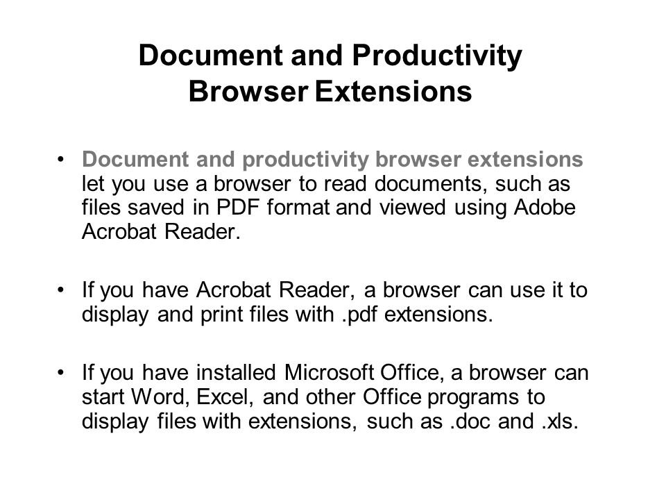 Document and Productivity Browser Extensions