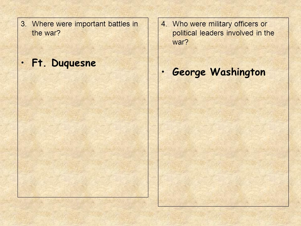 Ft. Duquesne George Washington