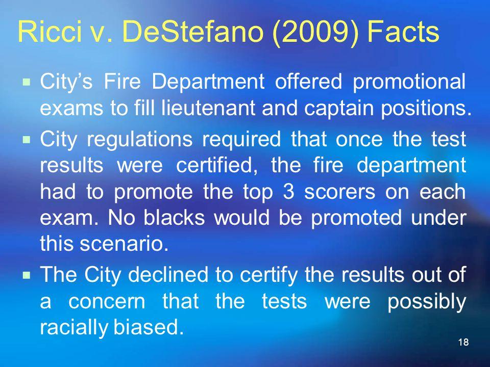 Ricci v. DeStefano (2009) Facts