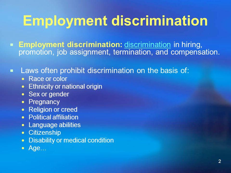 Employment discrimination