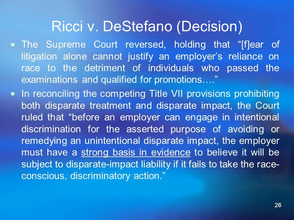 Ricci v. DeStefano (Decision)