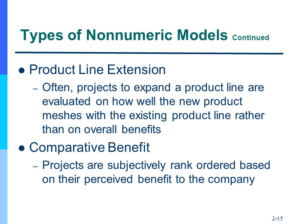 Types of Nonnumeric Models Continued