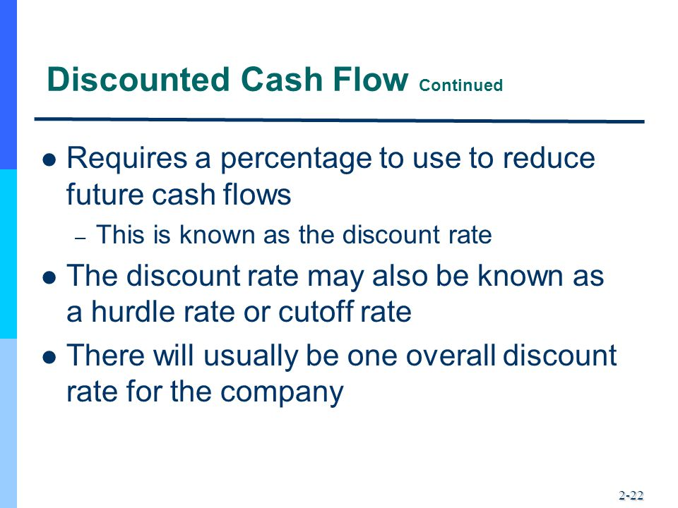 Discounted Cash Flow Continued