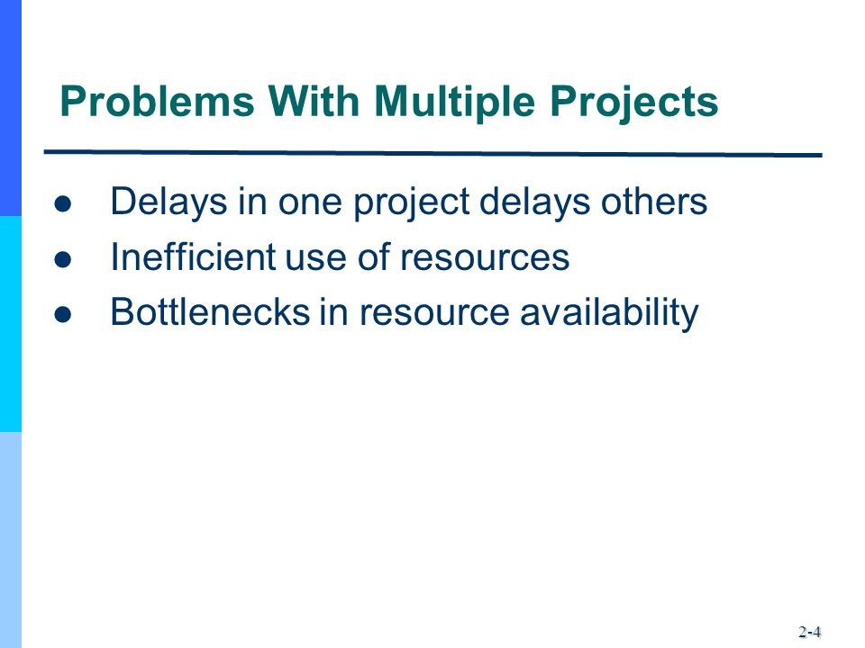 Problems With Multiple Projects