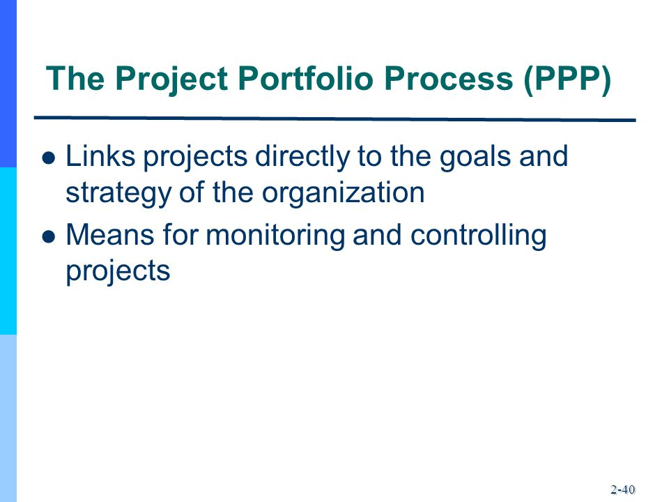 The Project Portfolio Process (PPP)