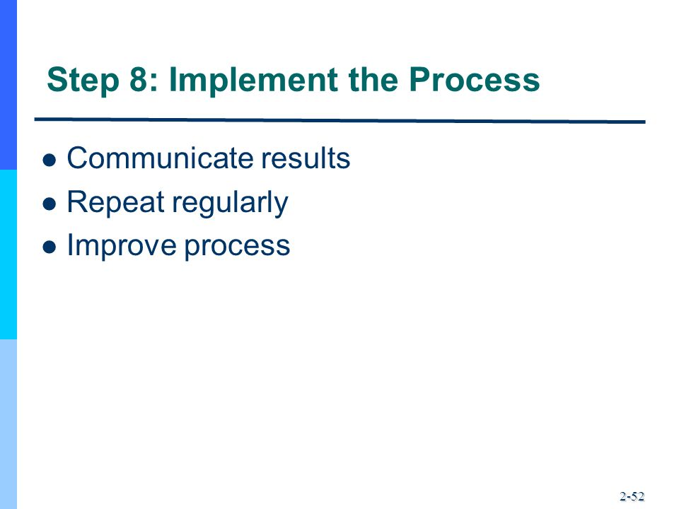 Step 8: Implement the Process