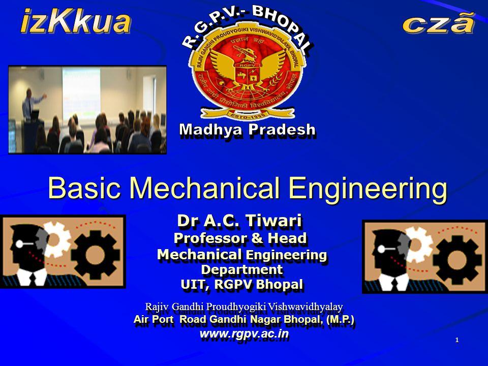 Mechanical Engineering Air Port Road Gandhi Nagar Bhopal, (M.P.)