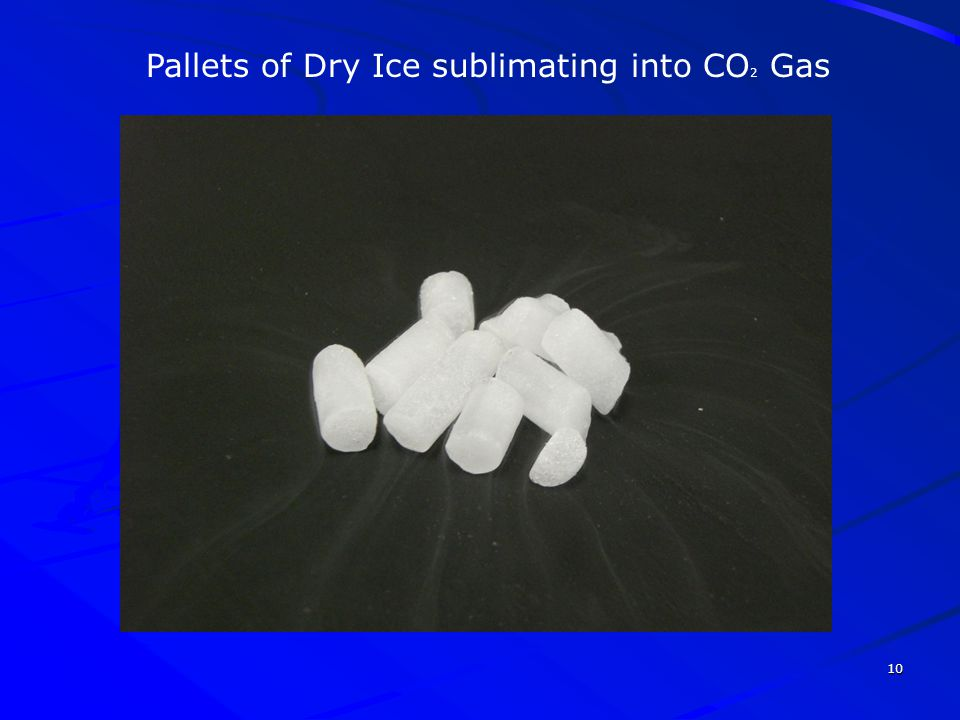 Pallets of Dry Ice sublimating into CO2 Gas