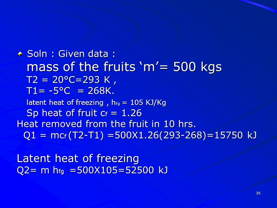 Latent heat of freezing