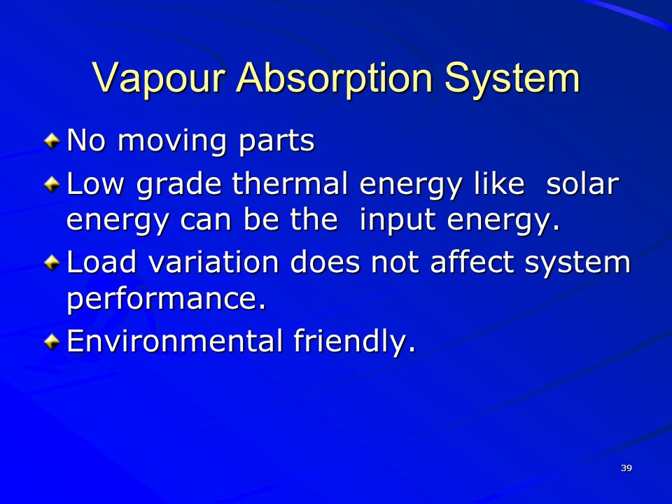 Vapour Absorption System
