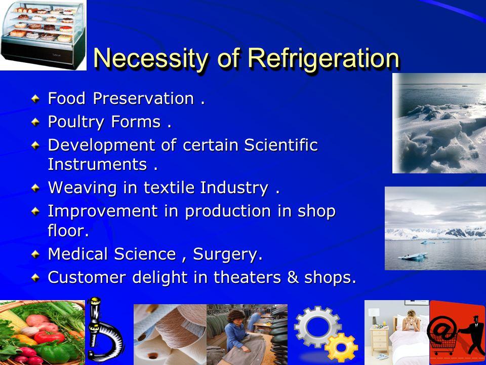 Necessity of Refrigeration
