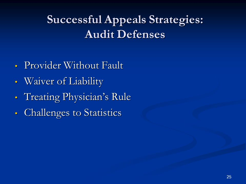 Successful Appeals Strategies: Audit Defenses