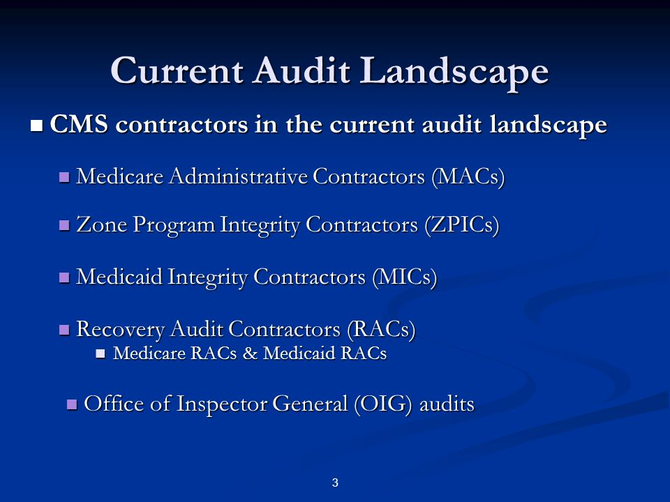Current Audit Landscape