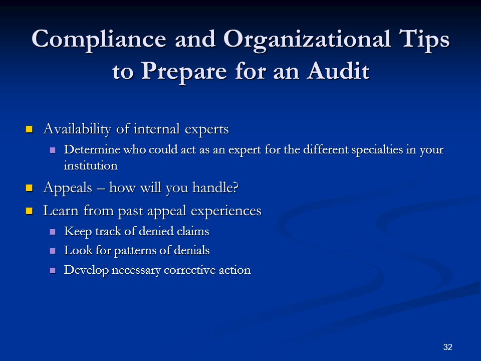 Compliance and Organizational Tips to Prepare for an Audit