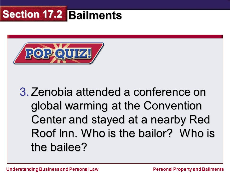 Zenobia attended a conference on global warming at the Convention Center and stayed at a nearby Red Roof Inn.