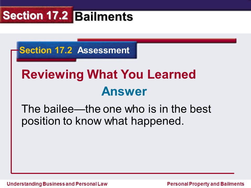 Reviewing What You Learned Answer