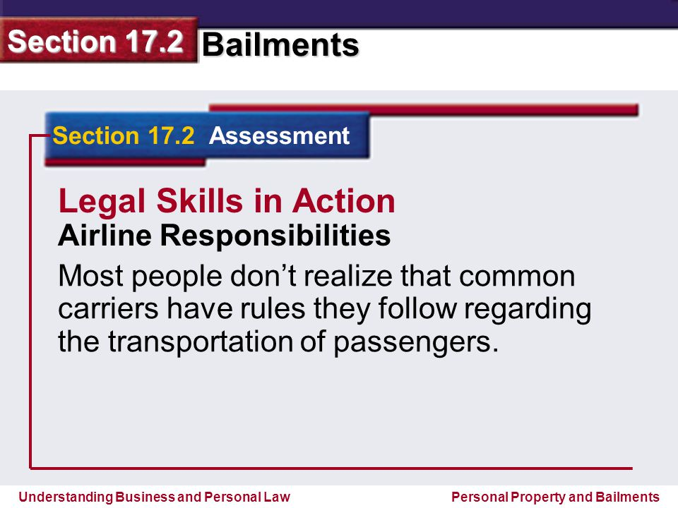 Legal Skills in Action Airline Responsibilities