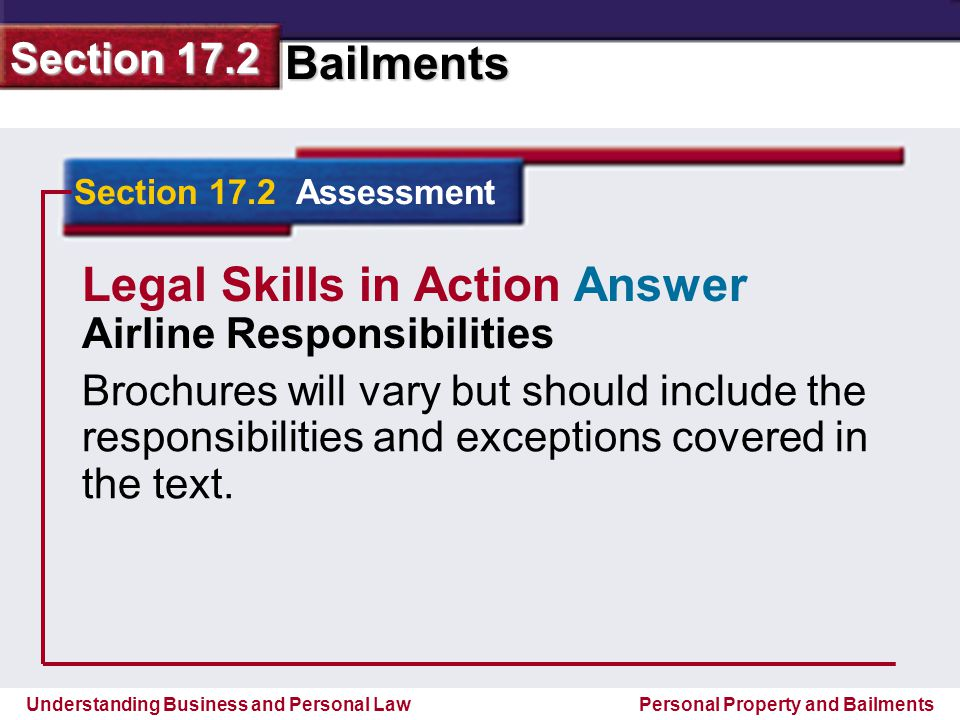 Legal Skills in Action Answer
