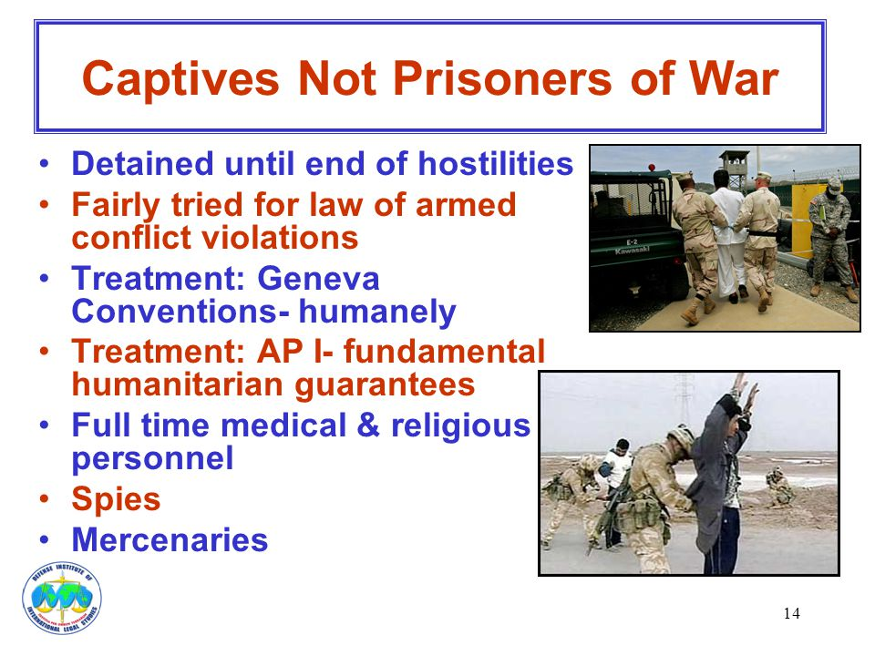 Captives Not Prisoners of War