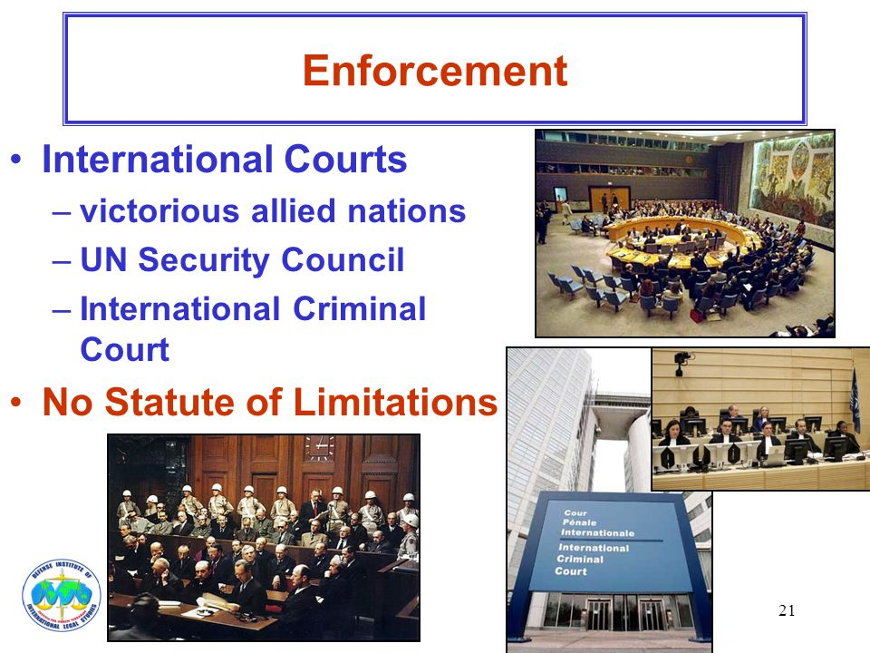 Enforcement International Courts No Statute of Limitations