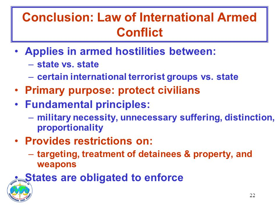 Conclusion: Law of International Armed Conflict