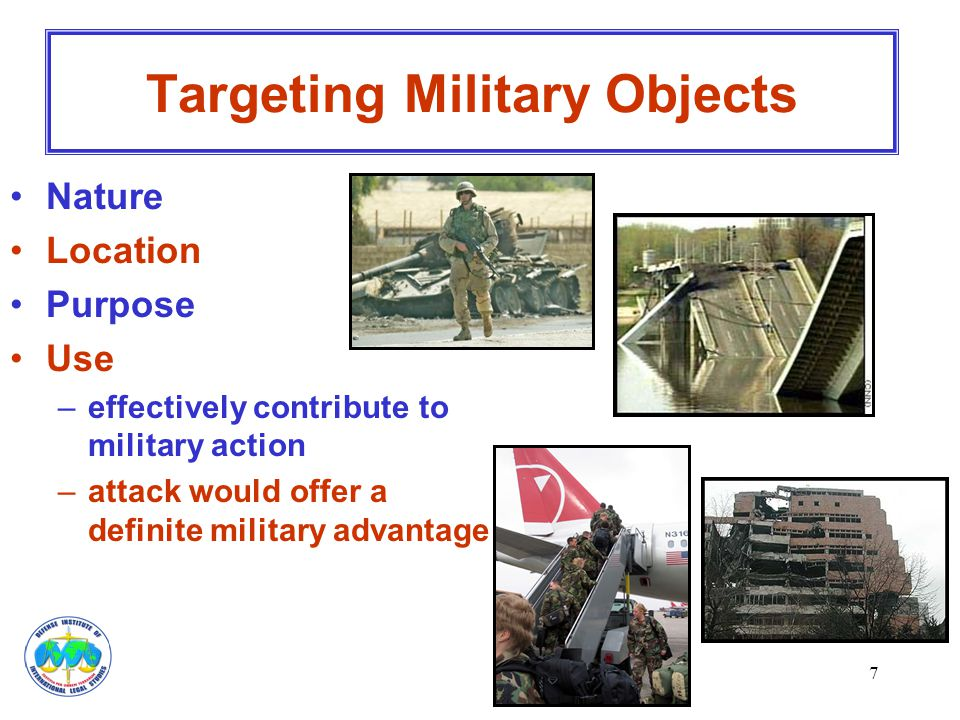 Targeting Military Objects