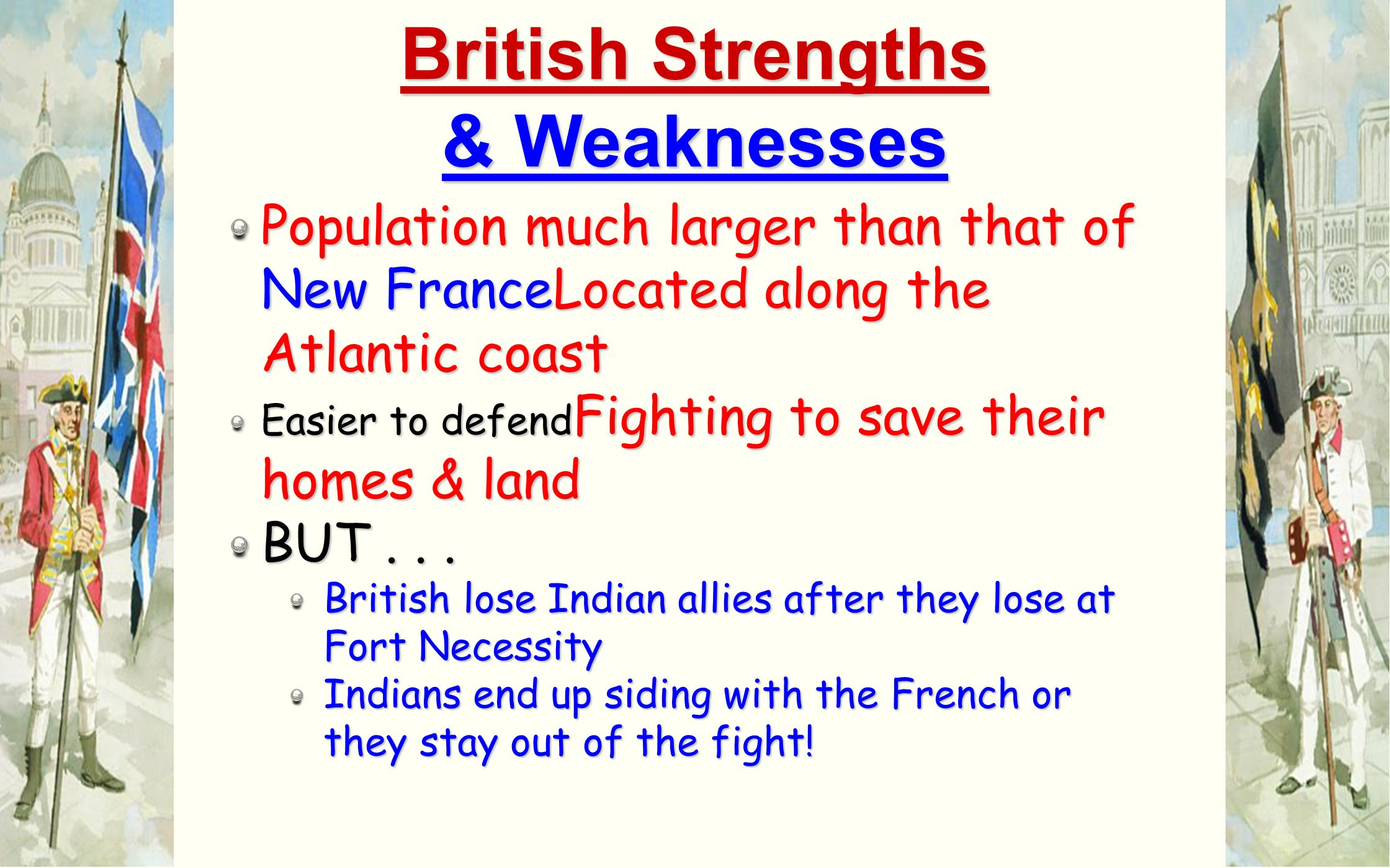 British Strengths & Weaknesses