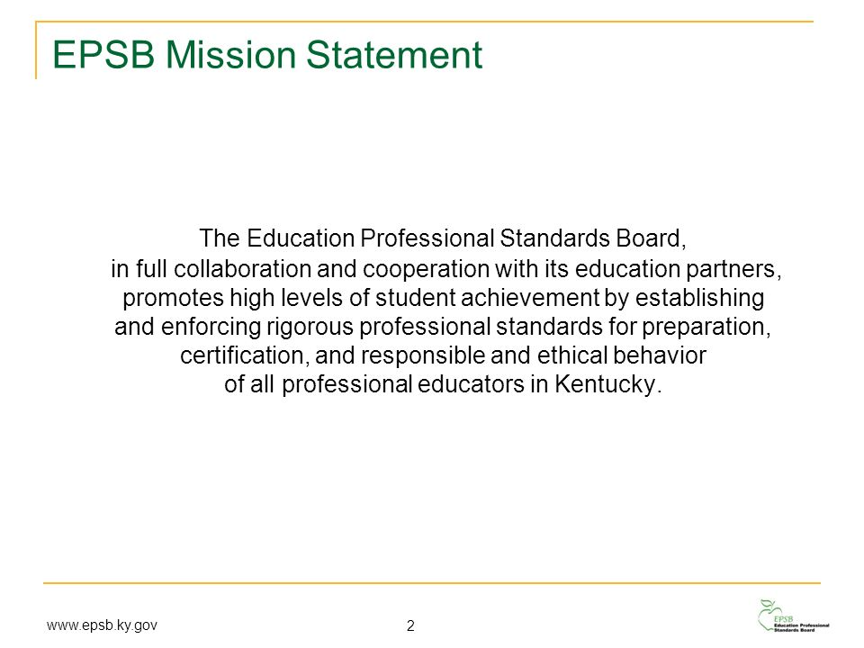 EPSB Mission Statement