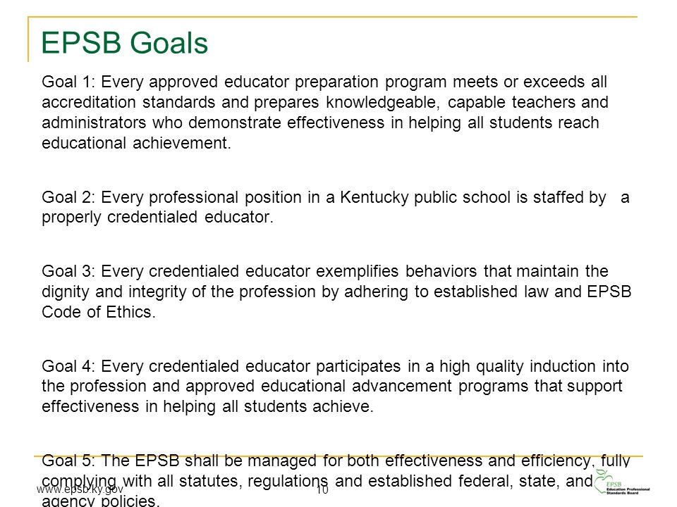 EPSB Goals