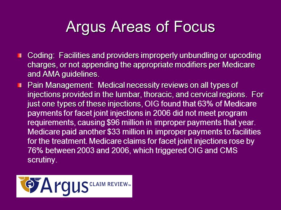 Argus Areas of Focus