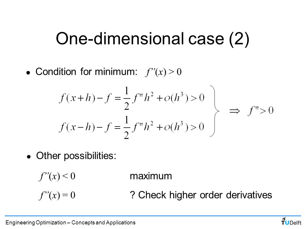One-dimensional case (2)