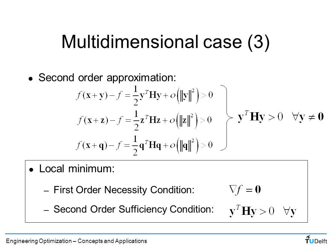 Multidimensional case (3)