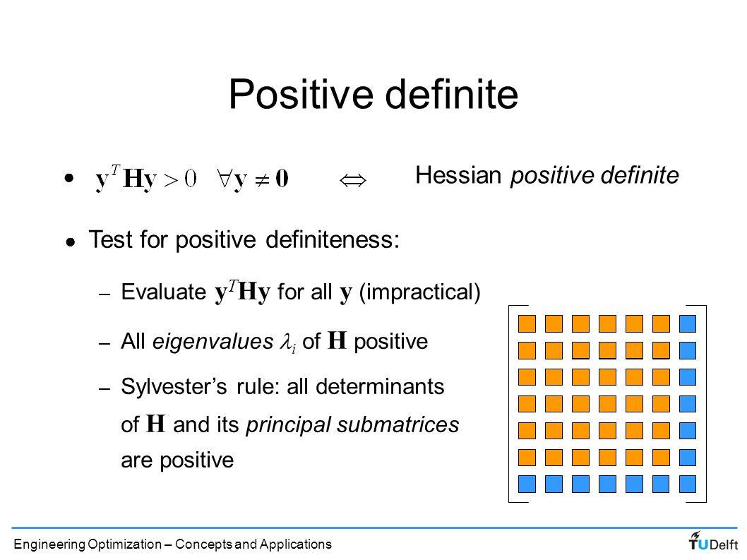 Positive definite Hessian positive definite