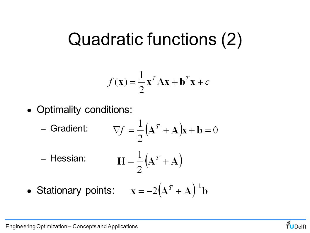 Quadratic functions (2)