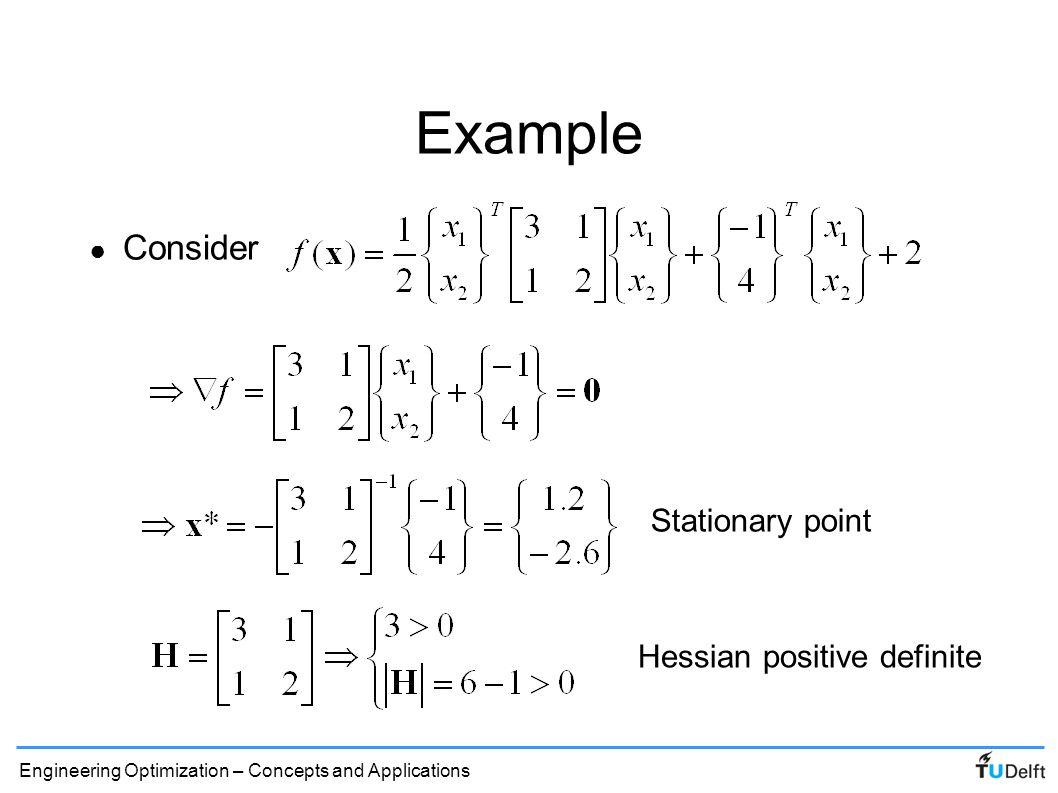 Hessian positive definite