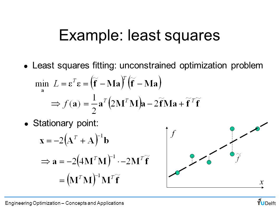 Example: least squares